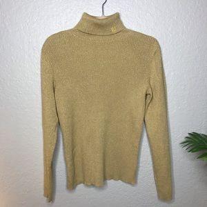 Lauren Ralph Lauren Gold Turtleneck Sweater